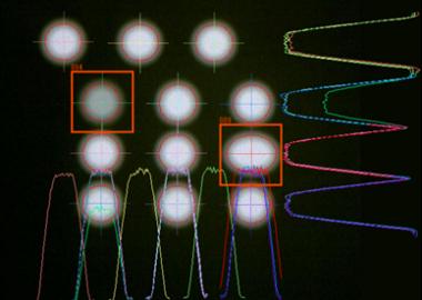 LED 発光状態の検査