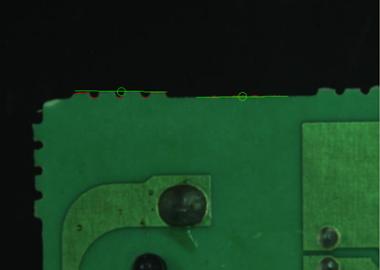 基板のミシン目高さ検査